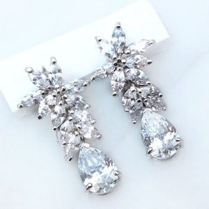 Beautiful CZ Drop Earrings